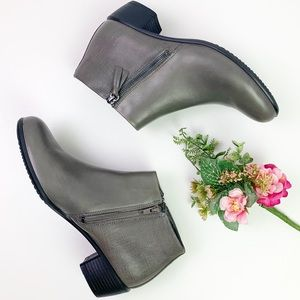 Ecco Touch 35 Booties Warm Gray Size 39